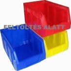 Rakásolható tárolóláda PIROS 14/6-1 - Méret 650 x 470 x 300 mm
