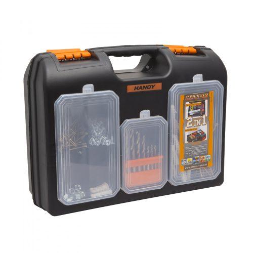 """Handy 2 az 1-ben műanyag fúró + alkatrész tároló táska 15.7"""" 400 x 300 x 155 mm"""