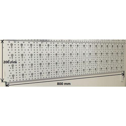 Element System Perforált lemez fehér 800x200 mm