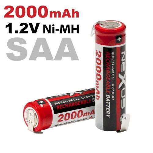 "Ceruza akkumulátor 1,2V 2000mAh SAA NiMh ""forrasztós"" 2db"