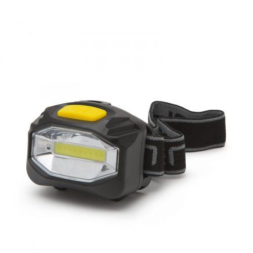 Nagy fényerejű COB LED fejlámpa - elemes