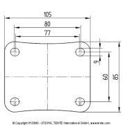 Tömörgumis kerék önbeálló villában (125)