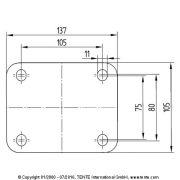 Tömörgumis kerék önbeálló villában (160)