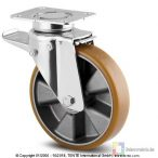 Alumínium kerék PUR futófelülettel 200-as fékes önbeálló villával
