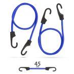 Professzionális gumipók szett - kék - 45 cm x 8 mm - 2 db / csomag