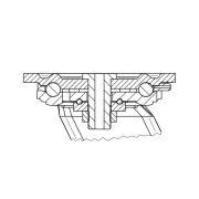 Alumínium kerék PUR futófelülettel 200-as önbeálló villával