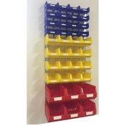 Horganyzott fali tartó MH-BOX dobozokkal (991x440) Szett