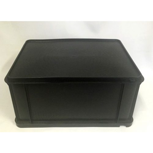 EURO gumifedeles láda 300x400x200 fekete