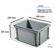 EURO műanyag láda 400x300x220