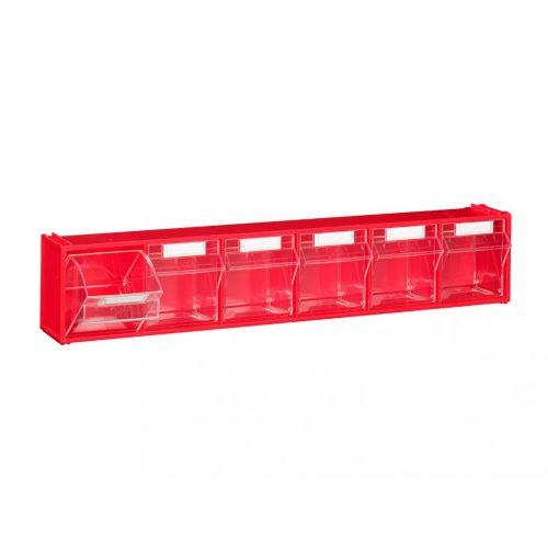 FOX 102 fali tároló (6 fiókkal) piros