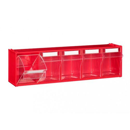 FOX 103 fali tároló (5 fiókkal) piros