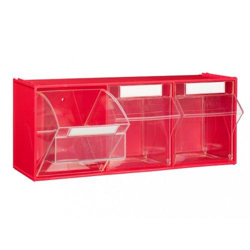 FOX 105 fali tároló (3 fiókkal) piros