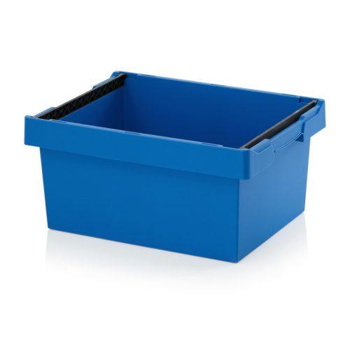 Kék tárolóláda, összerakó kengyellel (600x400x270)
