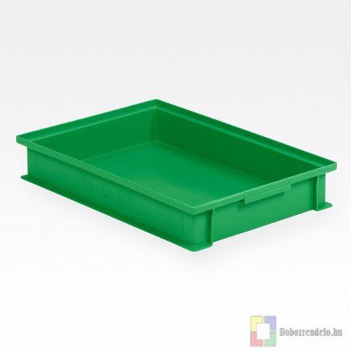 Rakásolható tárolóláda (465 x 315 x 72 mm), zöld